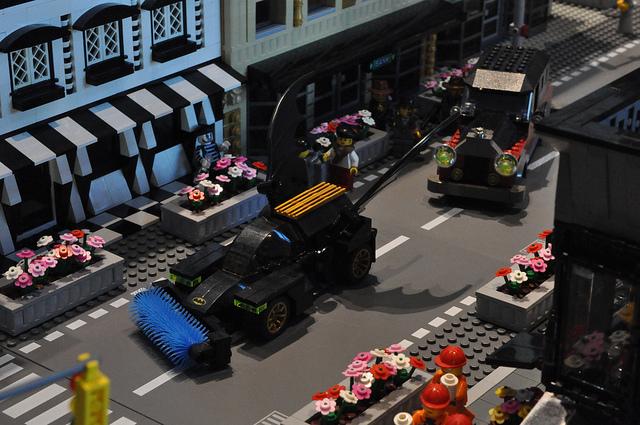 Élő LEGO város apával